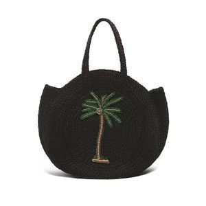 Zara Bags - Zara embroidered jute bag